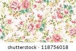 classic wallpaper seamless... | Shutterstock .eps vector #118756018