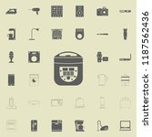 electric bread maker icon.... | Shutterstock .eps vector #1187562436