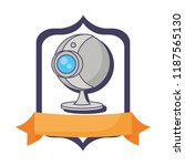 webcam surveillance device... | Shutterstock .eps vector #1187565130