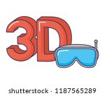 3d goggles digital technology... | Shutterstock .eps vector #1187565289