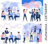 flat design business process...   Shutterstock .eps vector #1187568409