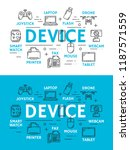 electronic and digital devices... | Shutterstock .eps vector #1187571559