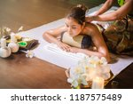 young women asian girl in spa... | Shutterstock . vector #1187575489
