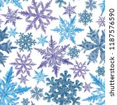 snowflake seamless pattern on... | Shutterstock . vector #1187576590