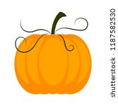 isolated colored pumpkin icon | Shutterstock .eps vector #1187582530