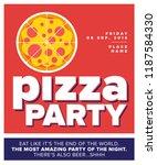 vector illustration of pizza.... | Shutterstock .eps vector #1187584330
