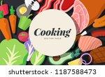 cooking ingredients vector set... | Shutterstock .eps vector #1187588473