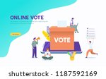 online vote vector illustration ...