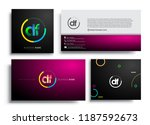 letter df logotype with... | Shutterstock .eps vector #1187592673
