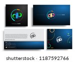 letter dp logotype with... | Shutterstock .eps vector #1187592766