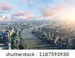 aerial view of the shanghai... | Shutterstock . vector #1187593930