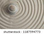 pyramids of gray zen stones on... | Shutterstock . vector #1187594773