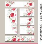 floral spring templates with... | Shutterstock .eps vector #1187596036