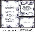 vintage delicate greeting... | Shutterstock .eps vector #1187601640