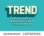 vector of stylized modern font... | Shutterstock .eps vector #1187603560