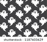 cute ghost pattern seamless... | Shutterstock .eps vector #1187603629