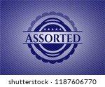 assorted with denim texture | Shutterstock .eps vector #1187606770