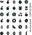 solid black flat icon set jam...   Shutterstock .eps vector #1187611843