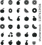 solid black flat icon set pear... | Shutterstock .eps vector #1187613436
