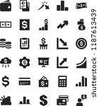 solid black flat icon set bank... | Shutterstock .eps vector #1187613439