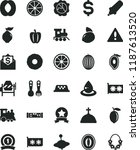 solid black flat icon set... | Shutterstock .eps vector #1187613520