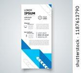 flyer brochure design template... | Shutterstock .eps vector #1187613790