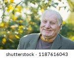 portrait of  elderly man in... | Shutterstock . vector #1187616043