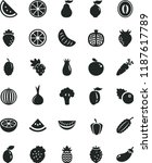 solid black flat icon set... | Shutterstock .eps vector #1187617789