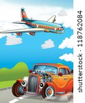 the hot rod and the flying... | Shutterstock . vector #118762084