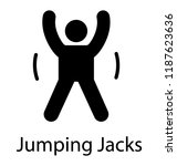 fitness man doing jumping jack... | Shutterstock .eps vector #1187623636