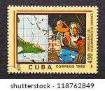 cuba   circa 1982  a postage... | Shutterstock . vector #118762849