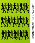 marathon runners detailed... | Shutterstock .eps vector #118762939