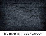 dark grey stone   black slate... | Shutterstock . vector #1187630029