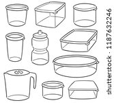 vector set of plastic container | Shutterstock .eps vector #1187632246