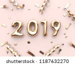 2019 balloon text number and... | Shutterstock . vector #1187632270