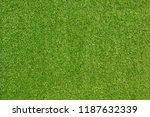 top view green artificial grass ... | Shutterstock . vector #1187632339