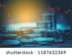 candlestick chart suitable for...   Shutterstock . vector #1187632369