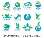 natural water symbols with... | Shutterstock .eps vector #1187632480