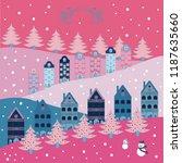 buildings on pink  gray  white  ... | Shutterstock .eps vector #1187635660