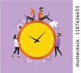time management.  modern flat... | Shutterstock .eps vector #1187636653