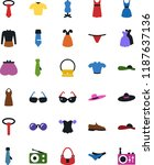 vector icon set   sewing... | Shutterstock .eps vector #1187637136