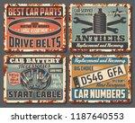 car repair and garage mechanic... | Shutterstock .eps vector #1187640553