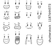 vector set of cartoon face | Shutterstock .eps vector #1187644573