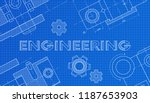 mechanical engineering drawings.... | Shutterstock .eps vector #1187653903