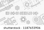 mechanical engineering drawings.... | Shutterstock .eps vector #1187653906