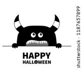 happy halloween. monster scary... | Shutterstock .eps vector #1187657899