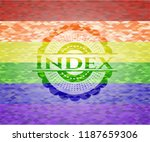 index on mosaic background with ... | Shutterstock .eps vector #1187659306
