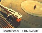 turntable vinyl record player... | Shutterstock . vector #1187660989