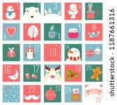 christmas advent calendar with... | Shutterstock .eps vector #1187661316