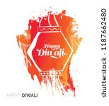 abstract diwali festival... | Shutterstock .eps vector #1187662480